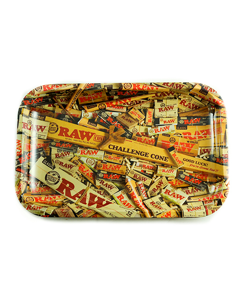 RAW Mix Rolling Paper Metal Rolling Tray