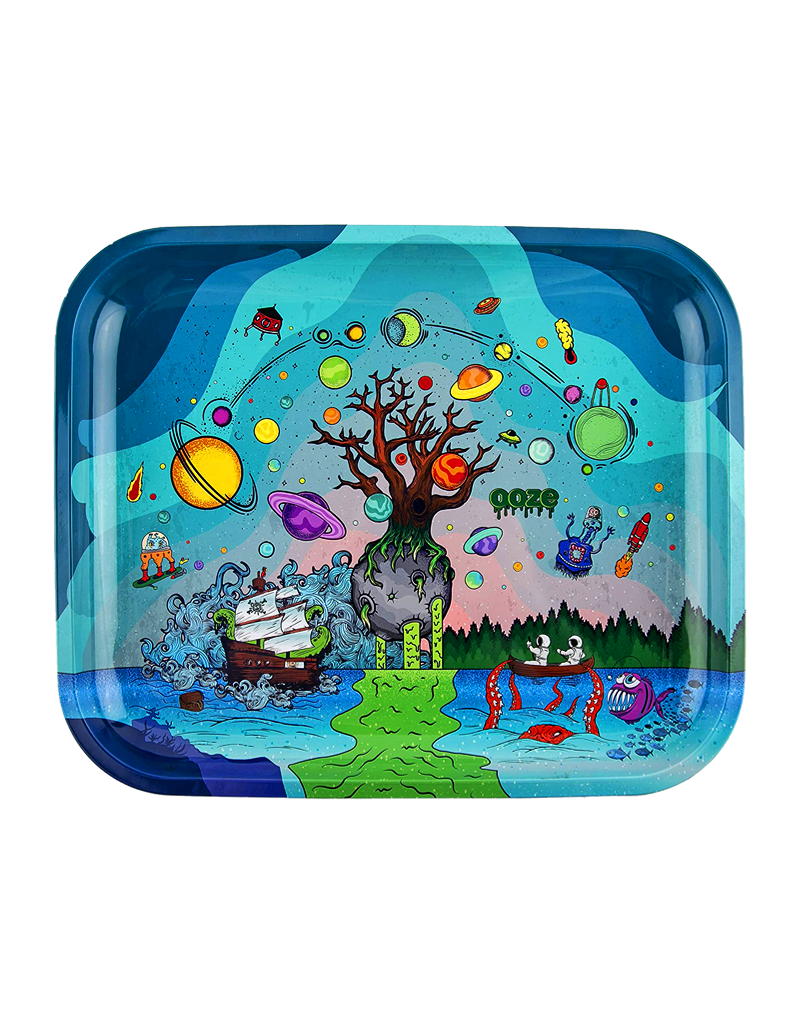 Ooze Tree of Life Metal Rolling Tray Large