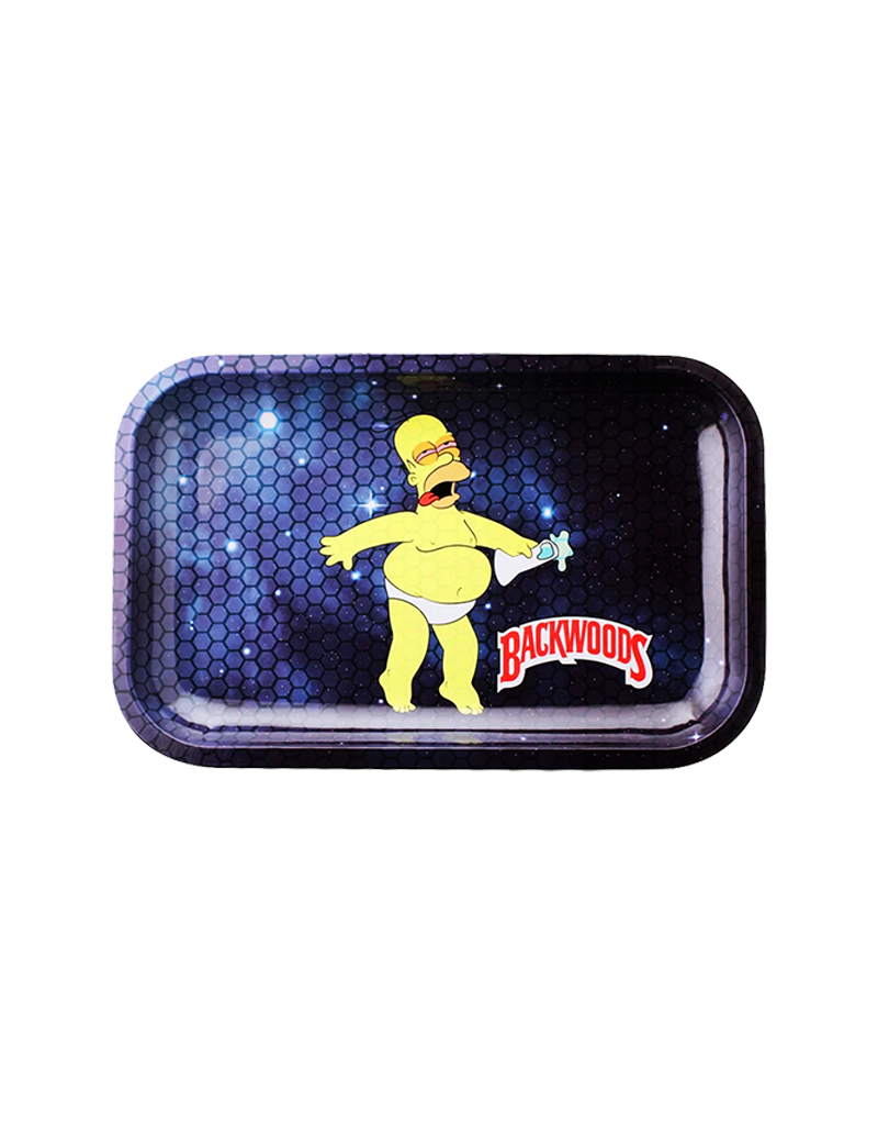 BWoods Homer Simpson in Space Metal Rolling Tray Small