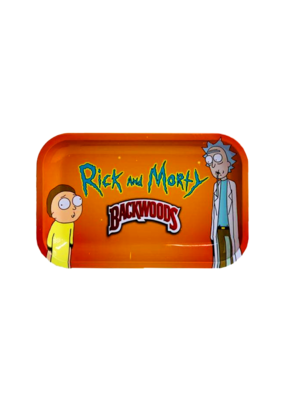 BWoods Rick & Morty #2 Orange Metal Rolling Tray Small