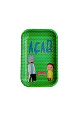BWoods Rick & Morty ACAB Metal Rolling Tray Small