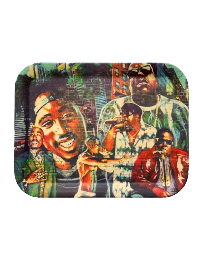 Bamboo Tupac and Biggie Rolling Tray Large