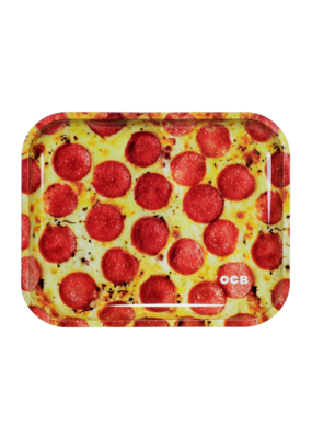 OCB Pepperoni Pizza Metal Rolling Tray Large