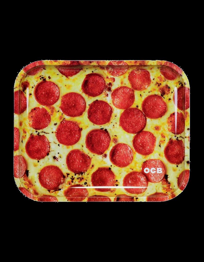 OCB Pepperoni Pizza Metal Rolling Tray Large