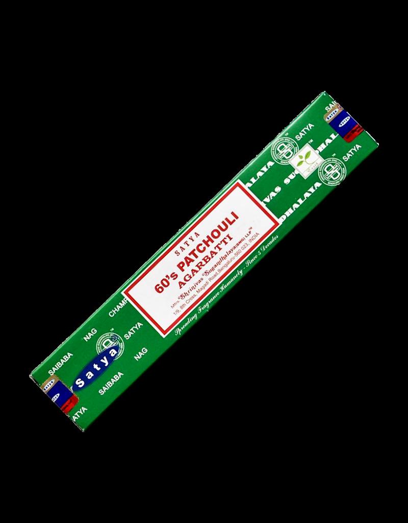 Satya 60's Patchouli Incense 15 Gram Box
