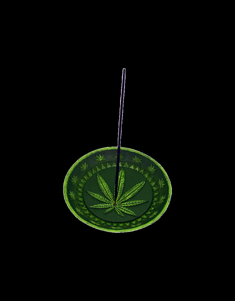 Leaf Round Incense Burner
