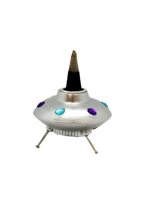 UFO Space Ship Backflow Incense Burner