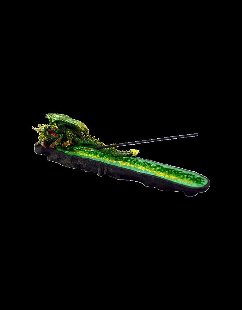 Green Dragon Boat Incense Burner