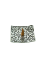 Floral Carved Aluminum Square Incense Burner
