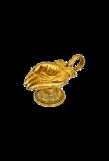 Hand Shape Brass Carved Cone Incense Burner