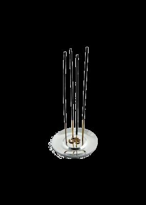 Om Symbol Aluminum Round Incense Burner
