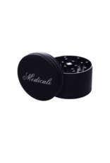 Medicali 70mm Large Black Grinder 2 3/4""