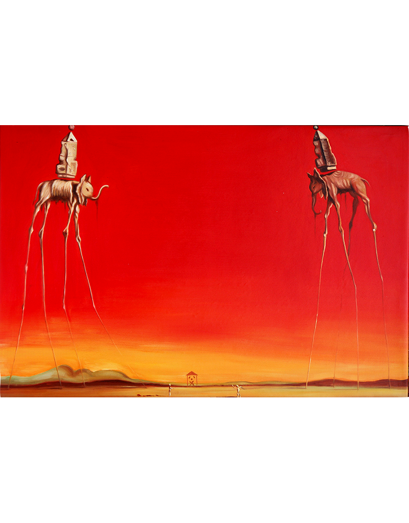 "Dali - Les Elephants Poster 36""x24"""
