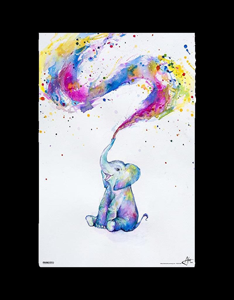 "Elephant Paint Splash Poster 24""x36"""