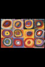 "Kandinsky - Farbestudie Quadrate Poster 36""x24"""