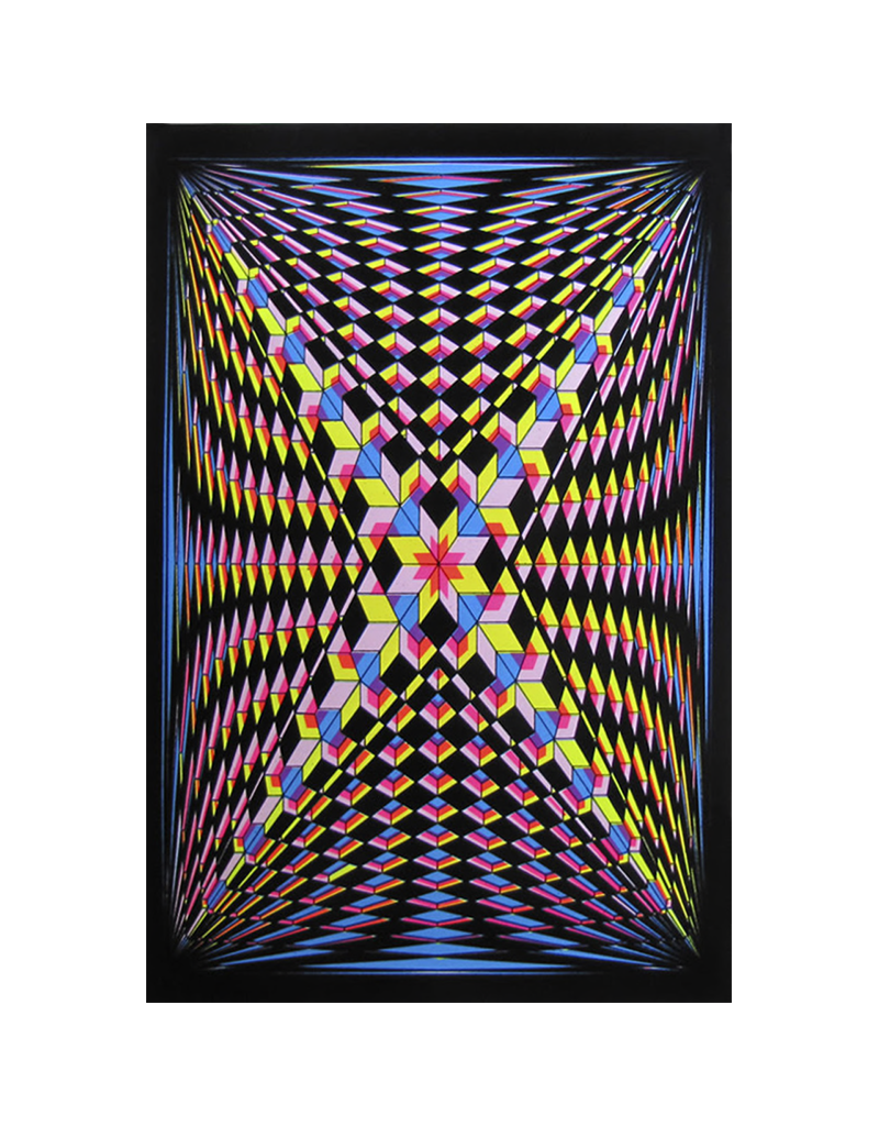 "Double V Blacklight Poster 23""x35"""