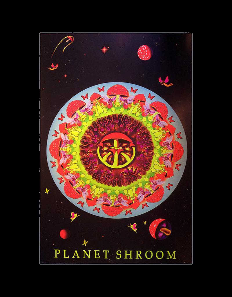 "Planet Shroom Blacklight Poster 24""x36"""