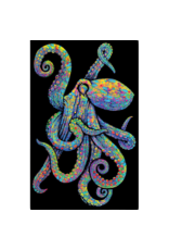 """Painted Octopus Blacklight Poster 23""""x35"""""""