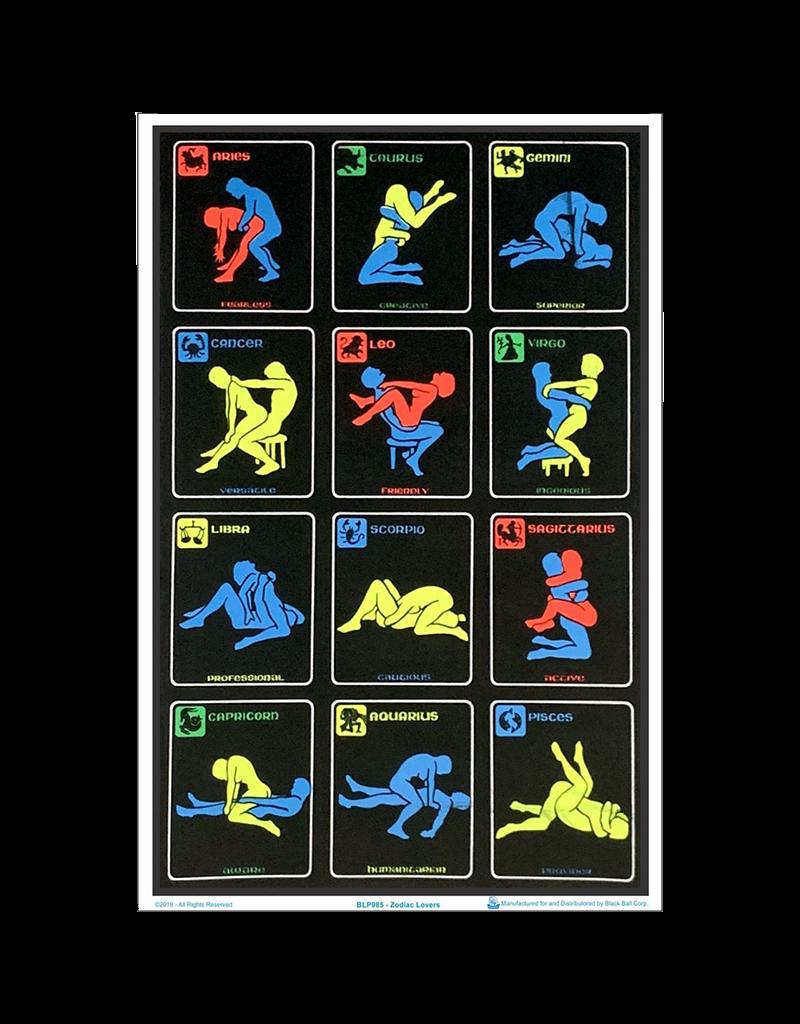 "Zodiac Position Blacklight Poster 24""x36"""