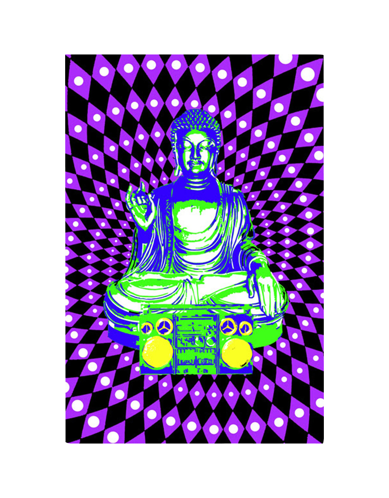 "Steez Buddha Boombox Blacklight Poster 24""x36"""