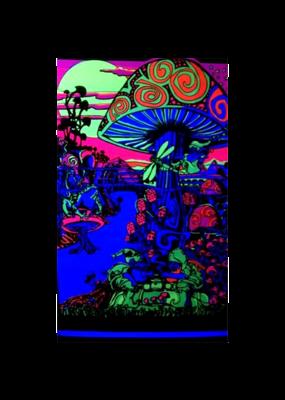 """Mushroom Blacklight Poster 23""""x35"""""""