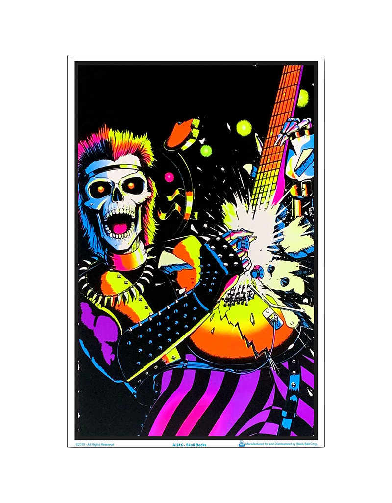 """Skull Rocks Blacklight Poster 23""""x35"""""""