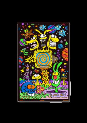 "Electric Garden Blacklight Poster 24""x36"""