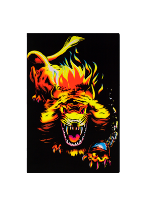 "Angry Lion Blacklight Poster 24""x36"""
