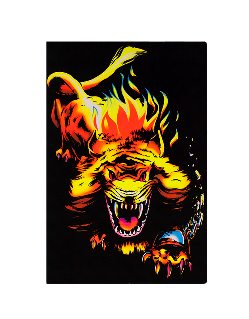 """Angry Lion Blacklight Poster 23""""x35"""""""
