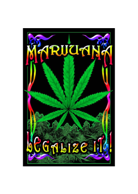 "Legalize It Blacklight Poster 23""x35"""