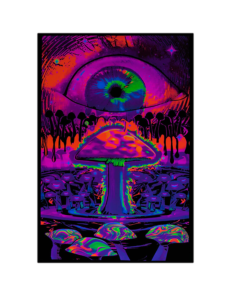 "Mushroom With Eye Blacklight Poster 24""x36"""