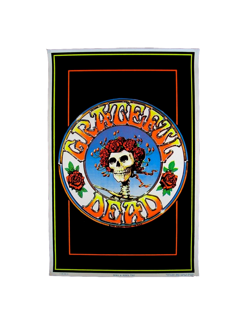 """Grateful Dead - Skull with Flowers 23""""x35"""""""