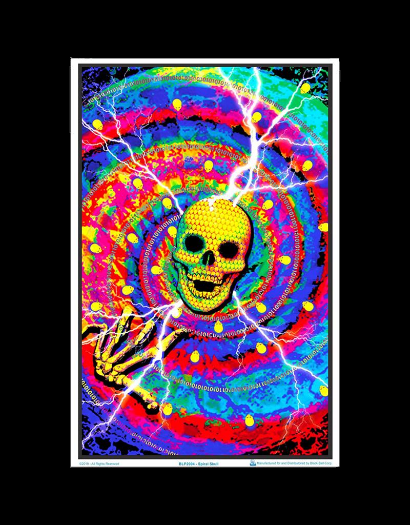 """Spiral Skulls Blacklight Poster 24""""x36"""""""