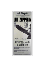 "Bob Masse - Led Zeppelin 1969 UK Tour Concert Poster 13""x23"""