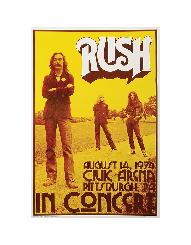 "Rush - Concert poster 24""x36"""
