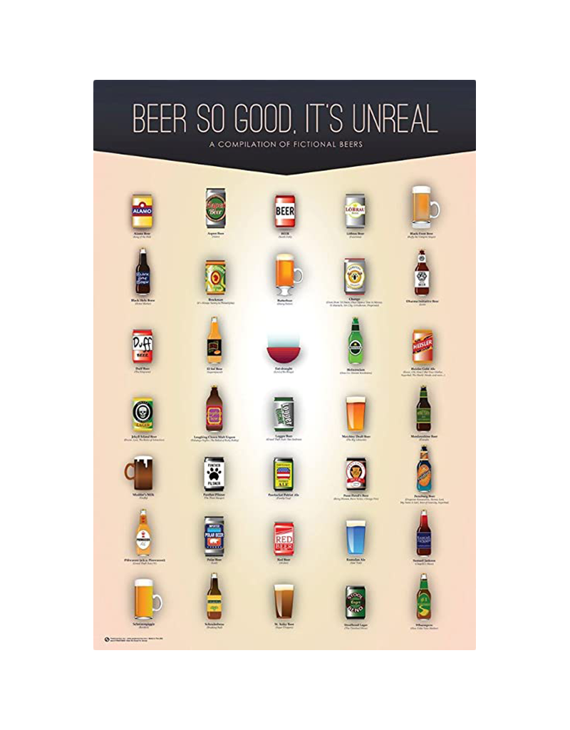 "Beer So Good It's Unreal Poster 24""x36"""