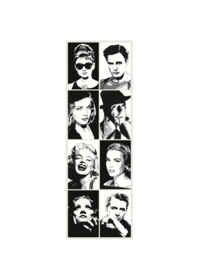 "Hollywood Legends Door Poster 21""x62"""