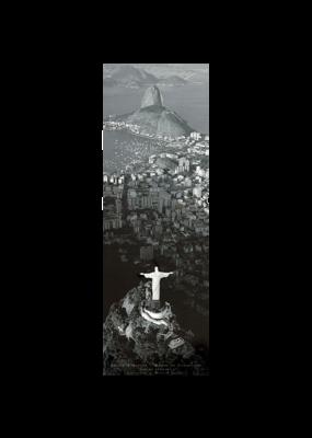 "Rio De Janeiro Door Poster 12""x36"""