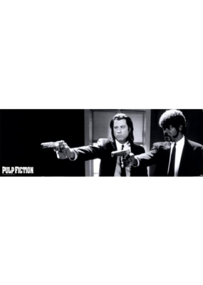 "Pulp Fiction - Duo Guns Door Poster 36""x12"""