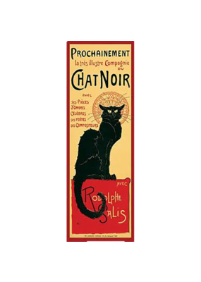 "Chat Noir Slim Door Poster 12""x36"""