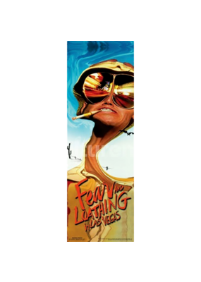 "Fear and Loathing Slim Door Poster 12""x36"""