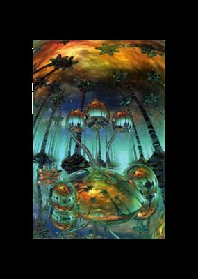 """Liquid Mushrooms Poster 24""""x36"""""""