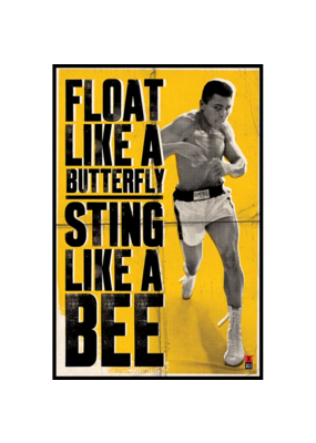 "Ali - Float Like A Butterfly Poster 24""x36"""