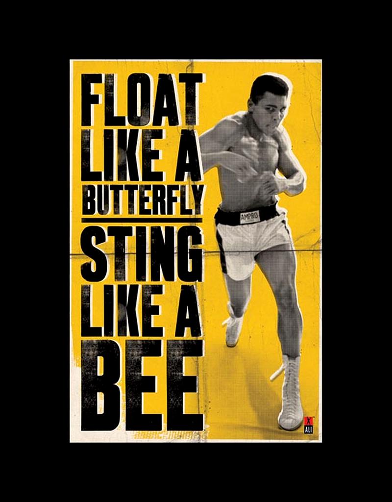 "Ali - Float Like A Butterfly Poster 24""x36"""