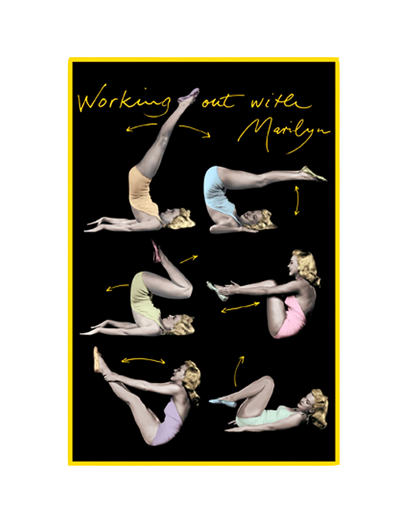 """Marilyn Monroe - Working Out With Marilyn Poster 24""""x36"""""""