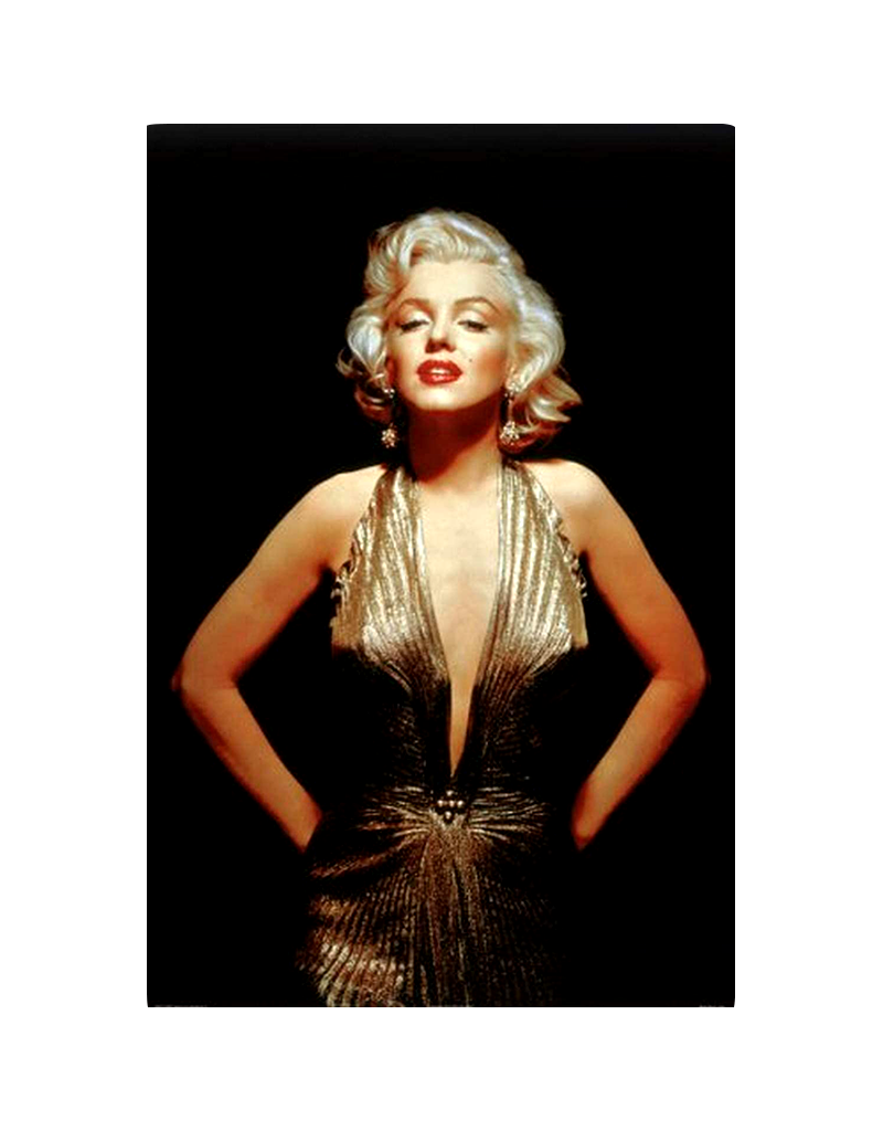 "Marilyn Monroe - Gold Poster 24""x36"""