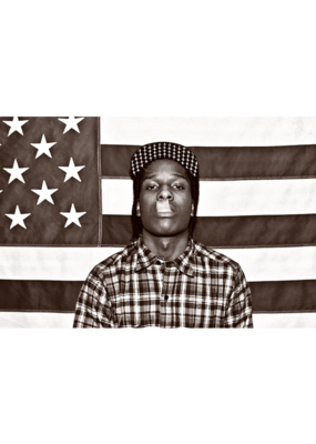 "ASAP Rocky - American Flag Poster 36""x24"""