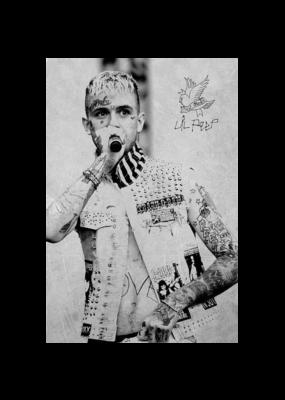 """Lil Peep - Tattoos Poster 24""""x36"""""""