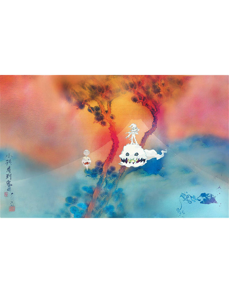 "Kanye and Kid Cudi - Kids See Ghosts Poster 36""x24"""