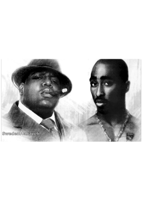 "Biggie and Tupac - Bad Boys Poster 36""x24"""